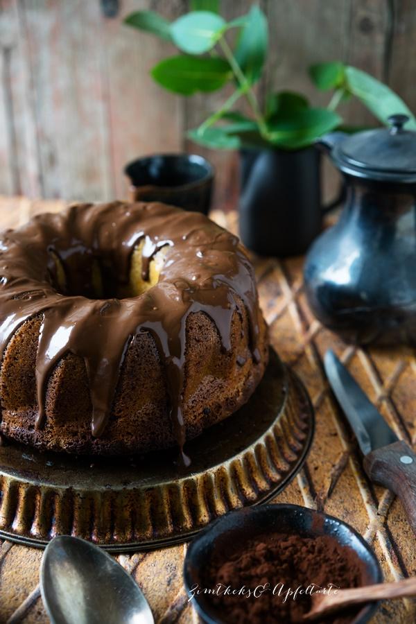 Einfaches Rezept für leckeren und saftigen Marmorkuchen