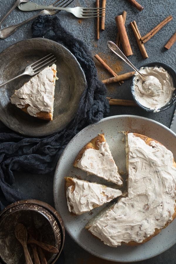Weltbester Zimtschnecken-Kuchen - Rosenkuchen mit Zimt - gelingsicher und lecker