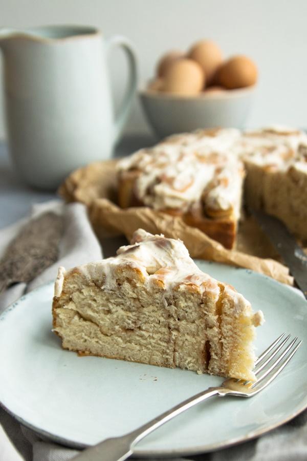 lecker und einfach: Zimtkschnecken-Kuchen / Rosenkuchen