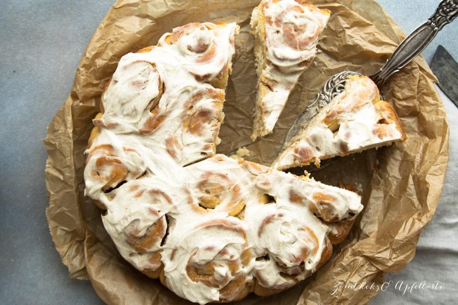 Zimtschnecken-Kuchen / Rosenkuchen - einfach, schnell und lecker