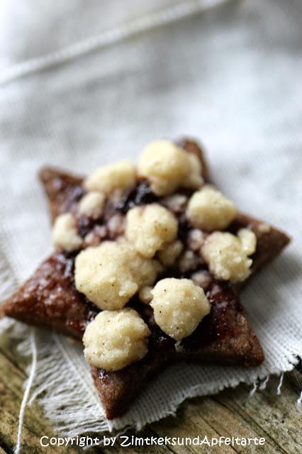 Streuselsternchen - Schokoladenkekse mit Streuseln und Marmelade - lecker und einfach