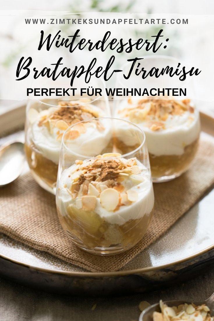 Bratapfel-Tiramisu - das perfekte Dessert für Weihnachten mit Spekulatius oder Cantuccini - Eifrei - lässt sich wunderbar und schnell vorbereiten