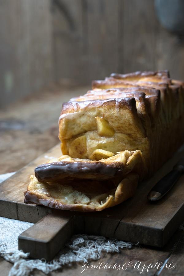 Apfel-Zupfbrot - Pull-Apart-Bread mit Zimt - ZimtkeksundApfeltarte.com