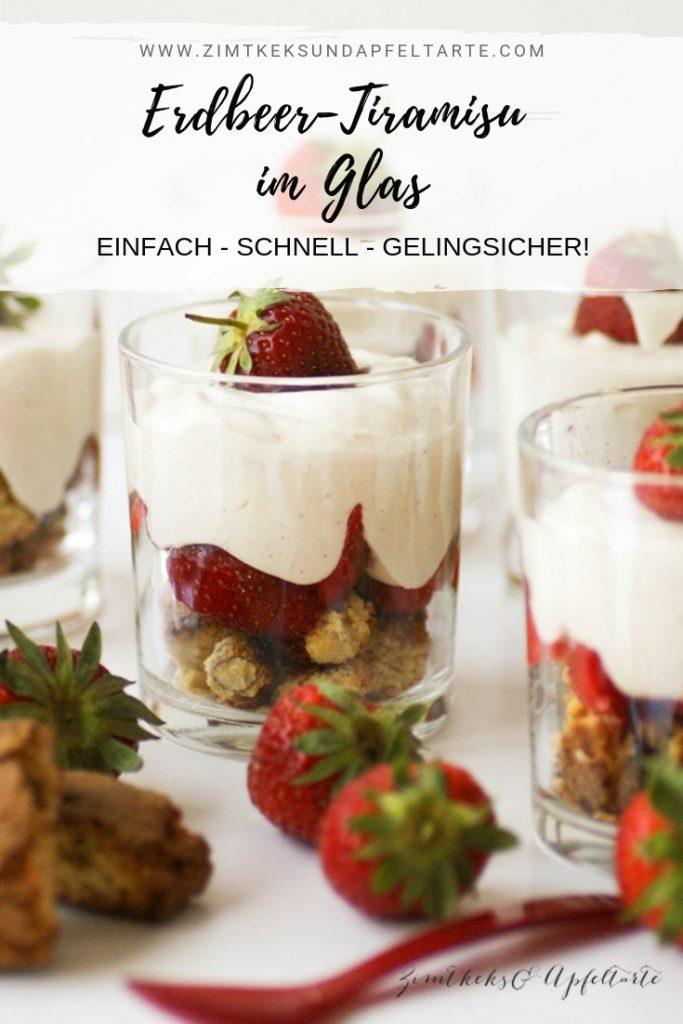 Erdbeer dessert mit mascarpone