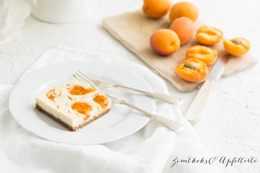 Aprikosen Swirl Cheesecakes einfache Rezept