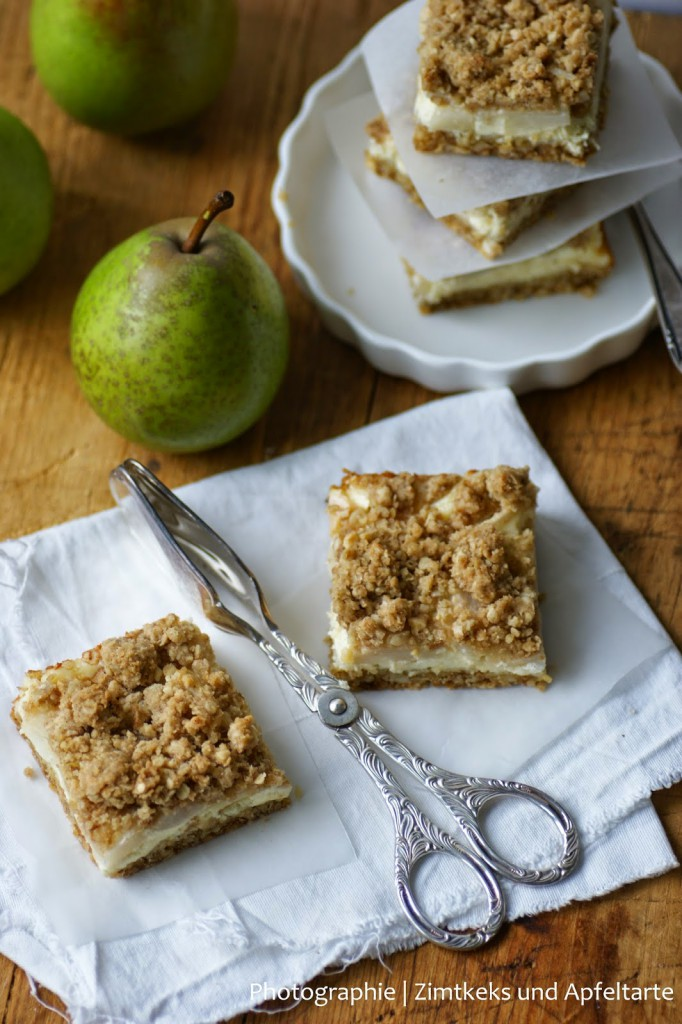 Birnen Cheesecake mit crunchy Streuseln einfach lecker