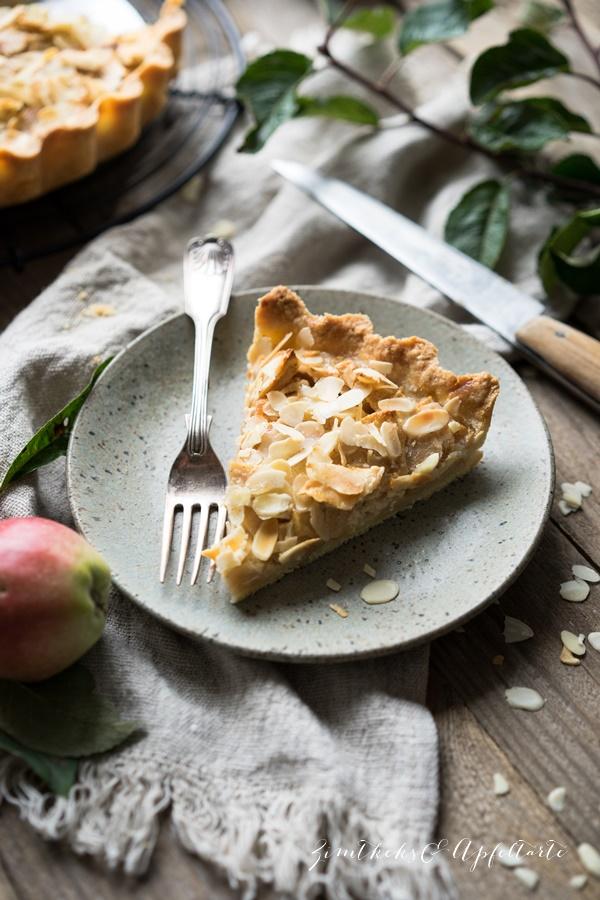 Gelingsicheres Rezept für einfache und leckere Apfeltarte mit wenig Zucker