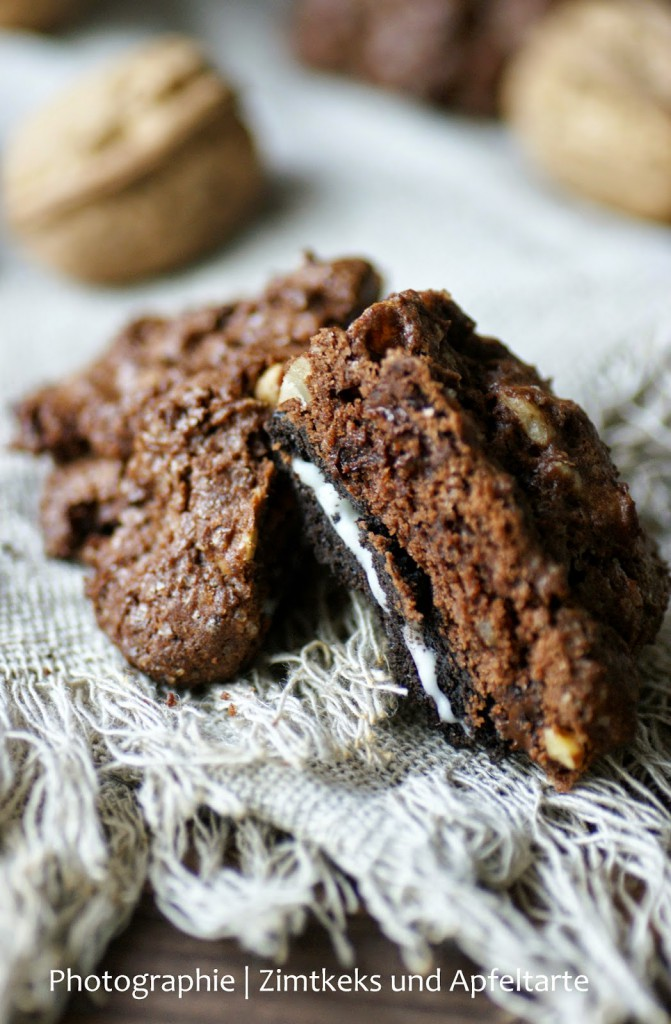 Schokoladen Cookies mit Oreos