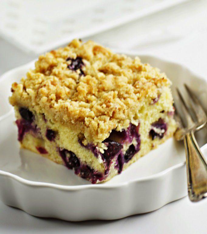 Zitronen Schmand Kuchen Mit Blaubeeren Und Streuseln Zimtkeks Und