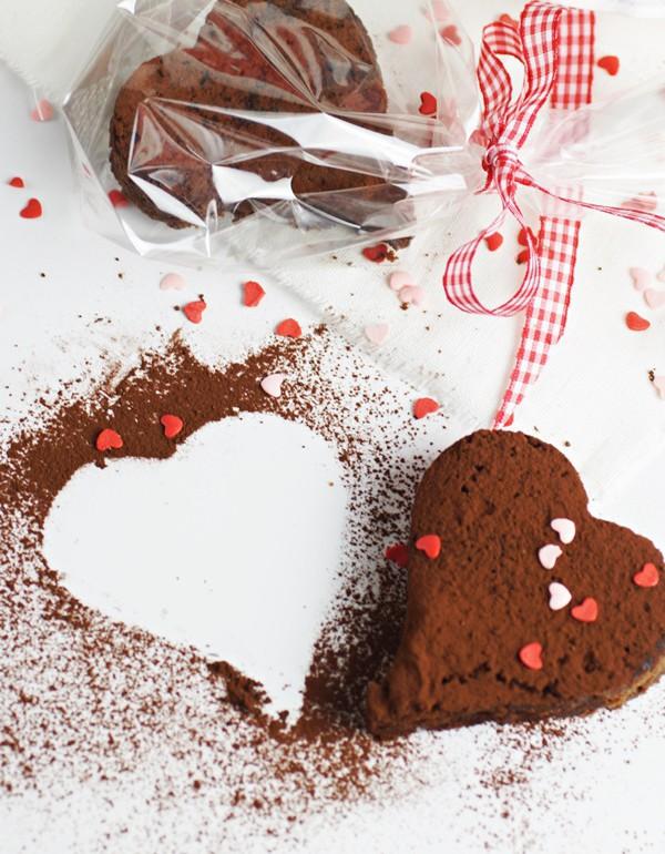 Brownie Herzen Zum Valentinstag Zimtkeks Und Apfeltarte