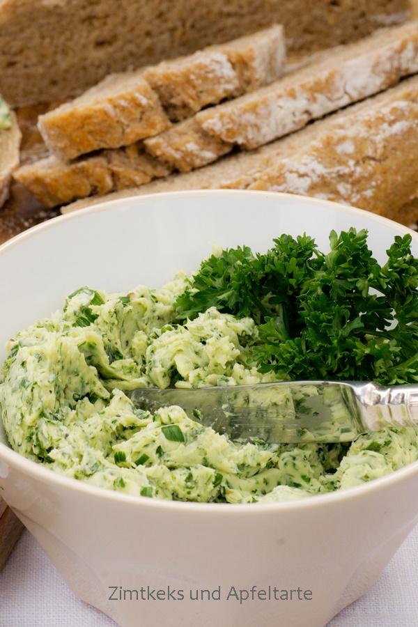 Hessisches Bauernbrot mit Grüne Sauce-Kräuterbutter