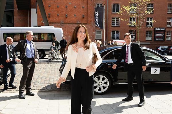 IKH Prinzessin Mary bei der Ankunft im Stilwerk, Foto: Stilwerk
