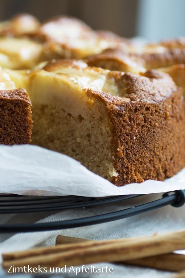 Apfelkuchen mit Apfelmus saftig und lecker