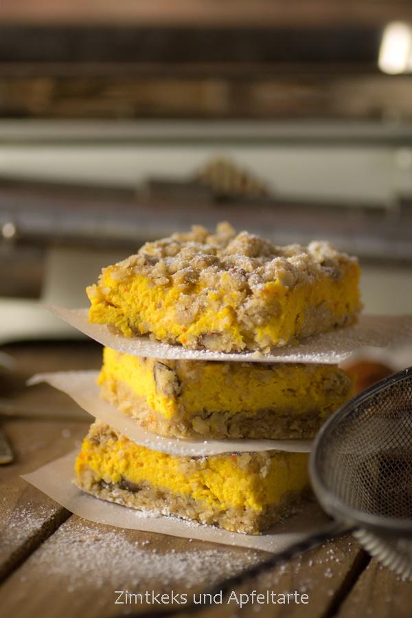 Einfach backen: Kürbis-Cheesecake mit Knusperstreuseln