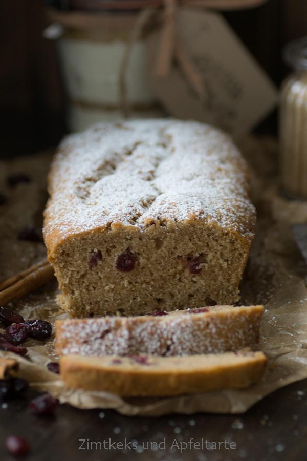 Backmischung Einfach Schnell Fur Veganen Apfel Cranberry Kuchen