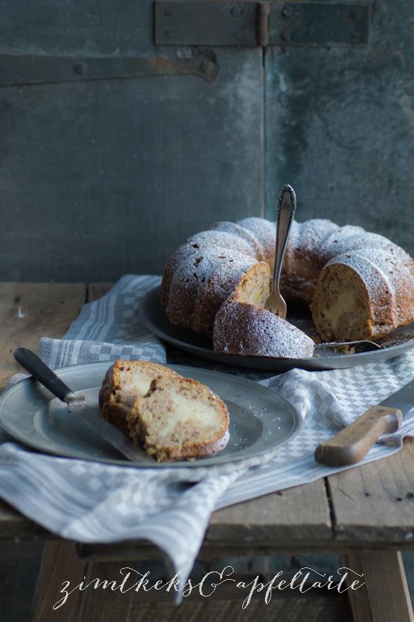 Apfelkuchen mit Cheesecakekern - lecker und einfach und ganz besonders
