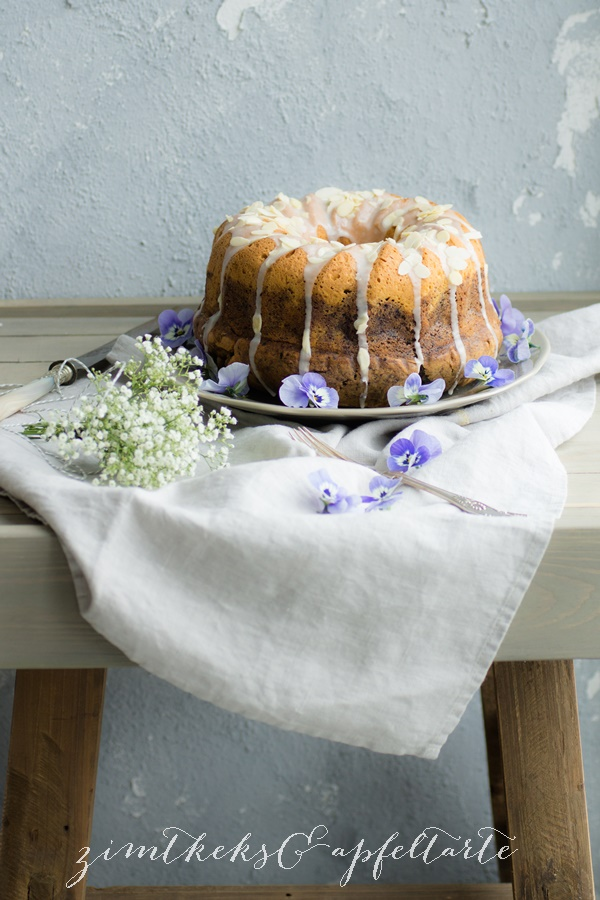 Blaubeer-Marmorkuchen, einfaches und schnelles Rezept