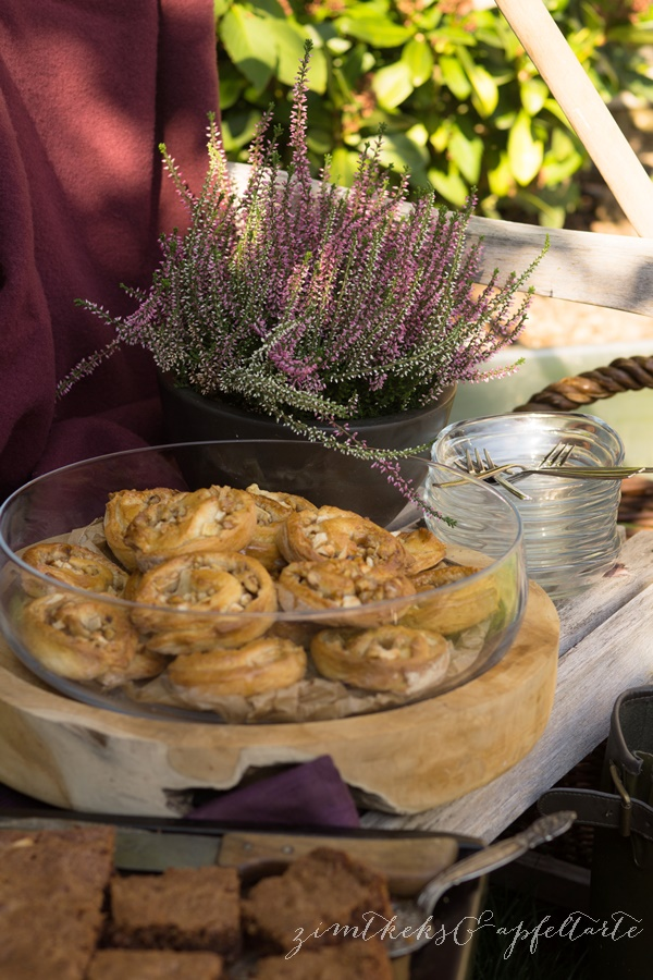 Apfel-Walnuss-Schnecken - perfekt für den Herbst