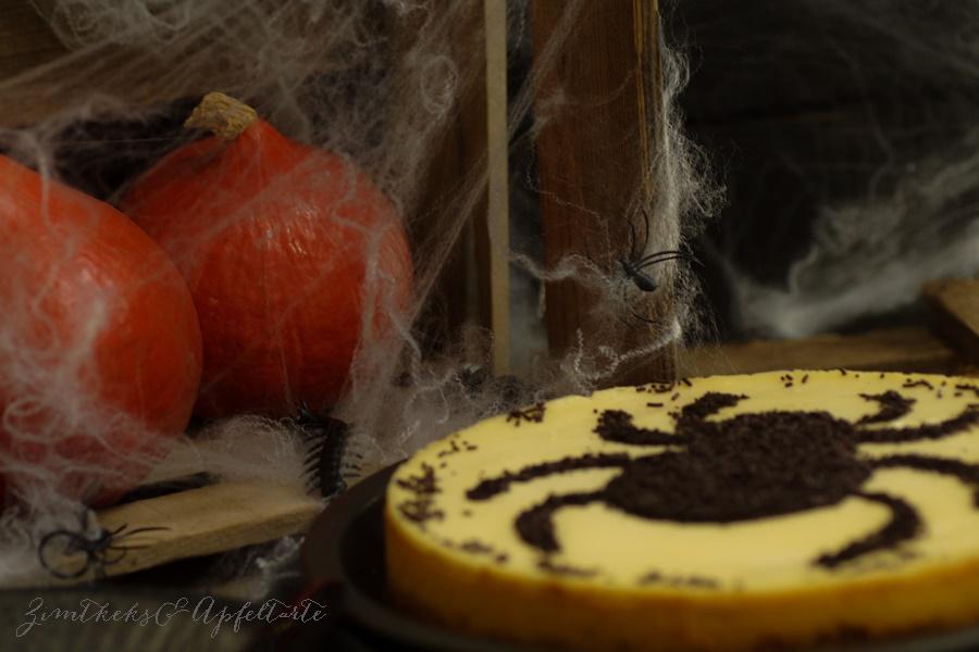 Kürbis Cheesecake auch für Halloween