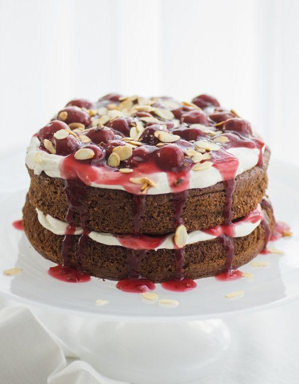 Naked Cake Im Schwarzwalder Kirsch Style Zimtkeks Und Apfeltarte