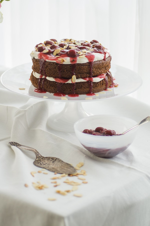 Naked-Cake im Schwarzwälder-Kirsch-Style lecker und einfach