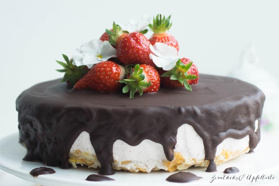 Erdbeer Ricotta Torte einfach Schokolade ohne backen