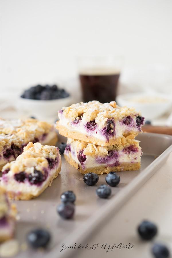Blaubeer-Cheesecake mit Streuseln- fruchtig, cremig, knackig... einfach lecker!