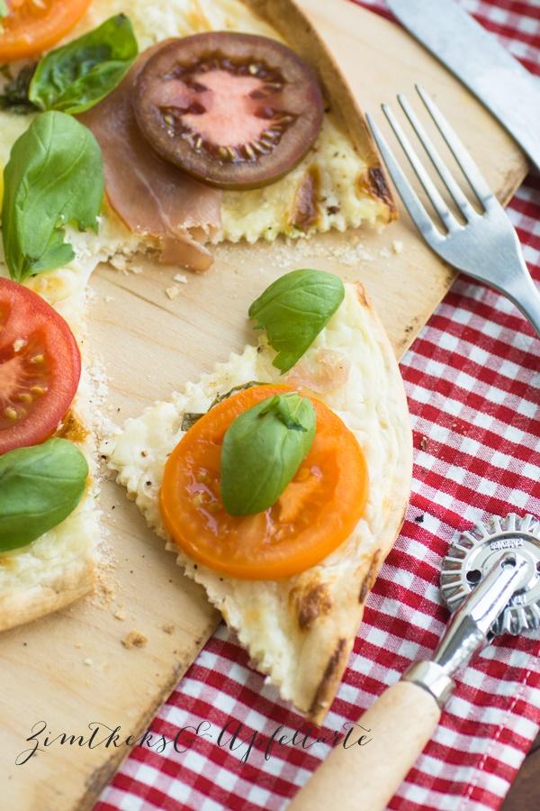 Tomaten Flammkuchen - einfach und schnell gemacht
