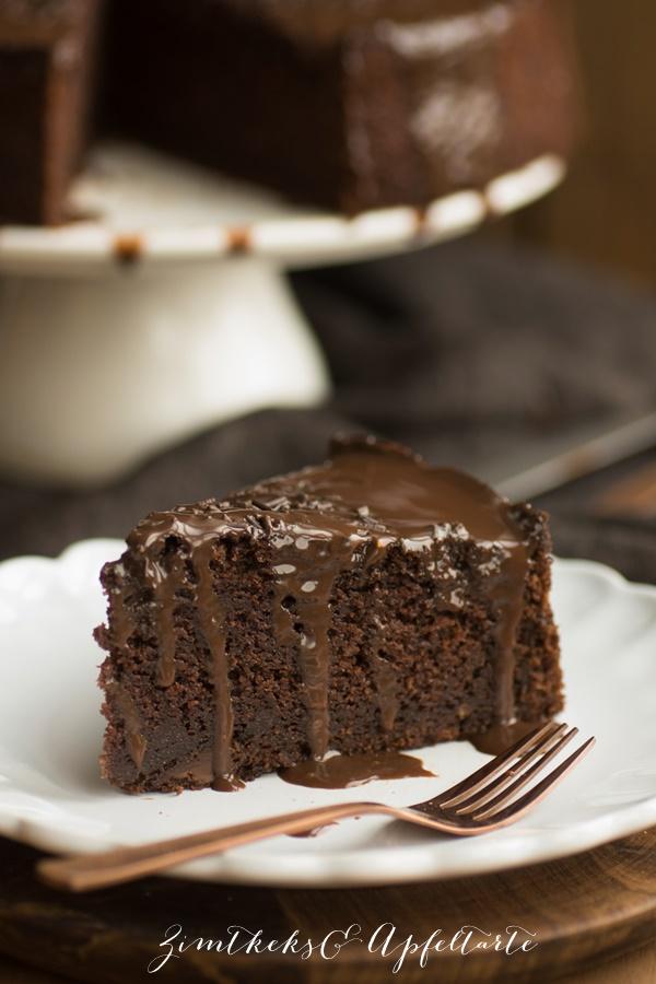 Saftiger und leckerer Schokoladenkuchen hausgemacht