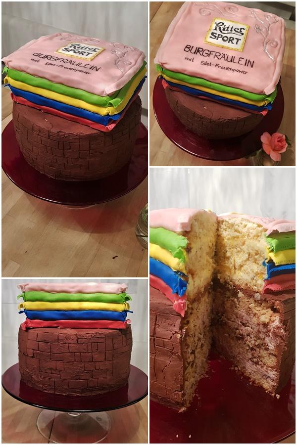 Torte mit Ritterburg-Design