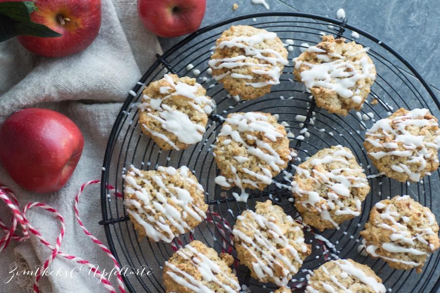 leckere, saftige Bratapfel-Cookies - einfaches Rezept auf dem Blog