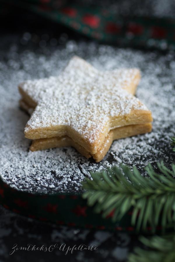 einfach und lecker: Marzipan-Orangen-Kekse gefüllt