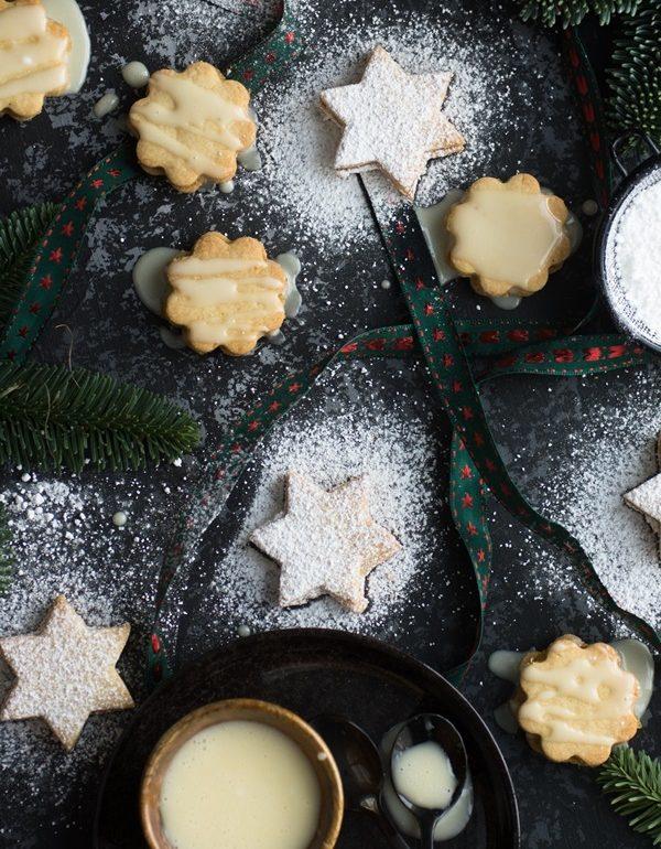 Orangentaler Weihnachtsgebäck.Einfach Und Schnell Gefüllte Marzipan Orangen Kekse