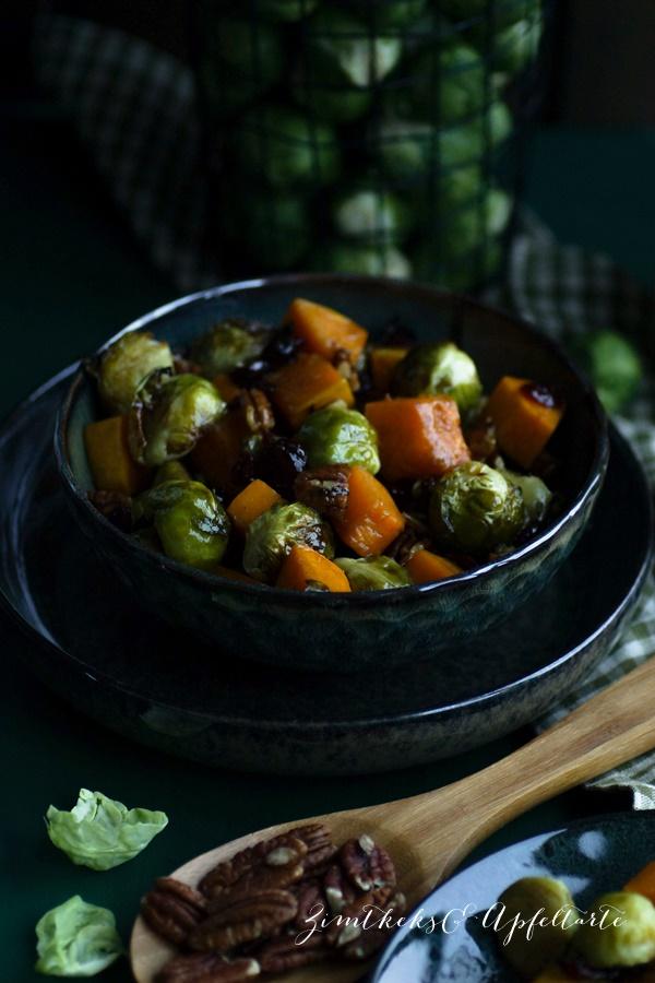 Rosenkohl-Butternut Salat einfach und lecker