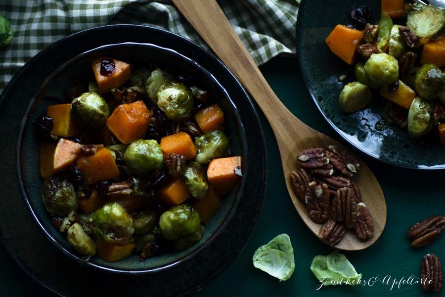 Köstlich: Rosenkohl-Butternut-Salat