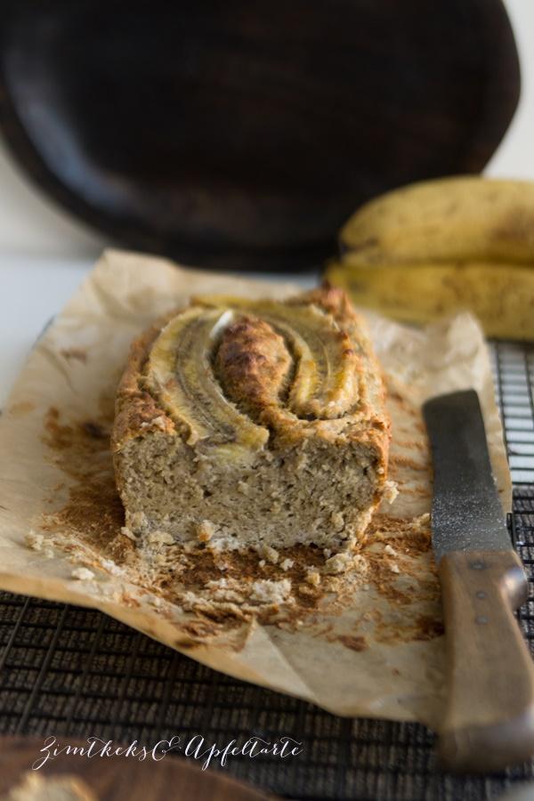 einfaches Rezept für Low Carb Bananenbrot