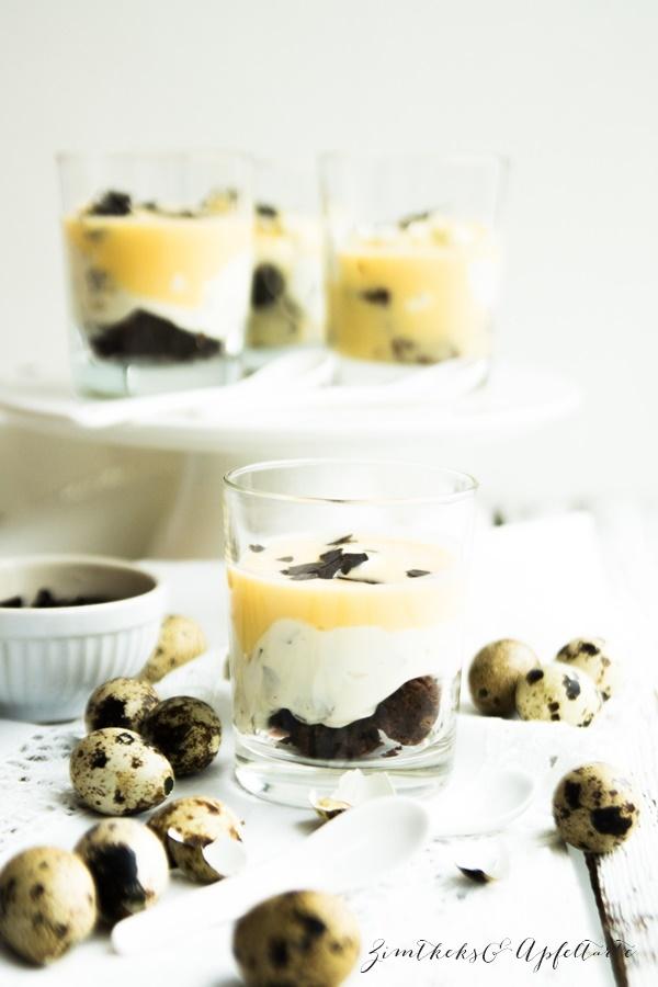 Lecker und einfach: Eierlikör-Brownie-Dessert