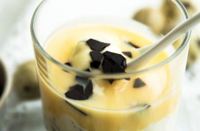 Schnelle und einfach: Eierlikör-Brownie-Dessert