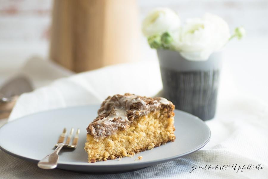 Rezept für einfachen Eierlikör-Kuchen mit Knusperstreuseln