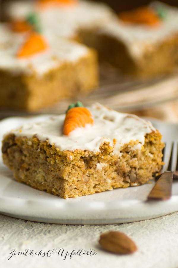 Einfach und schnell low Carb Karottenkuchen - Möhrenkuchen