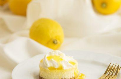 Zitronen-Cheesecake mit Lemon-Curd