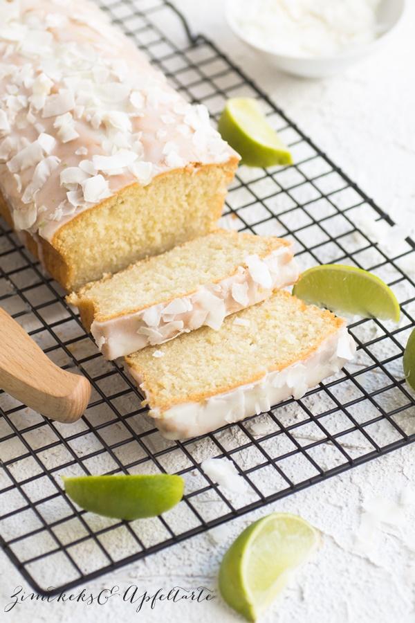 Limetten-Kokos-Kuchen - einfach und schnell