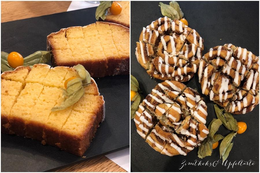 Cinnamon-Rolls und Zitronenkuchen bei Starbucks