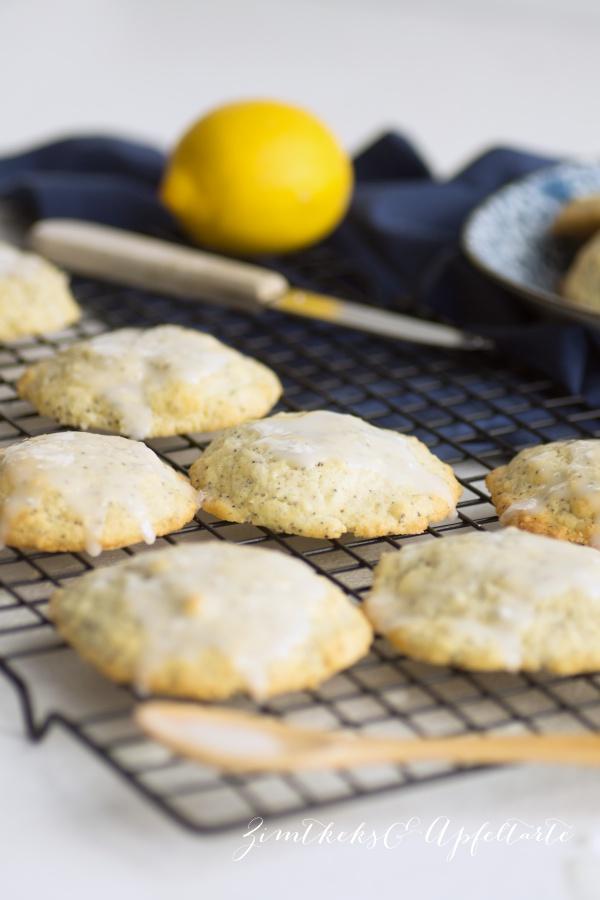 Lecker und einfach zum selber backen: Zitronen-Mohn-Cookies