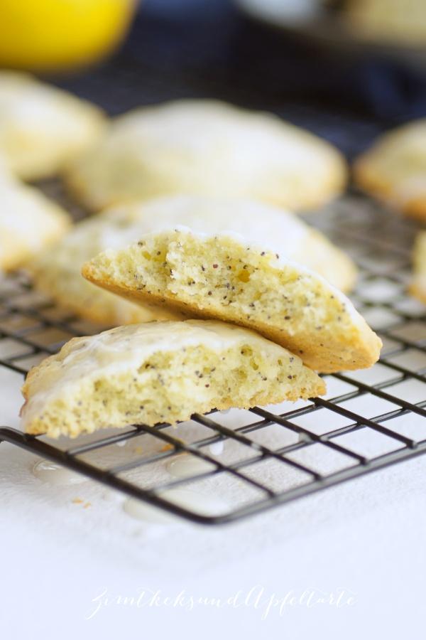 Einfaches und schnelles Rezept für Zitronen-Mohn-Cookies