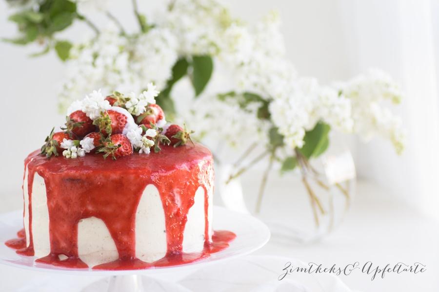 Rezept für Erdbeer-Frischkäse-Torte zu Muttertag