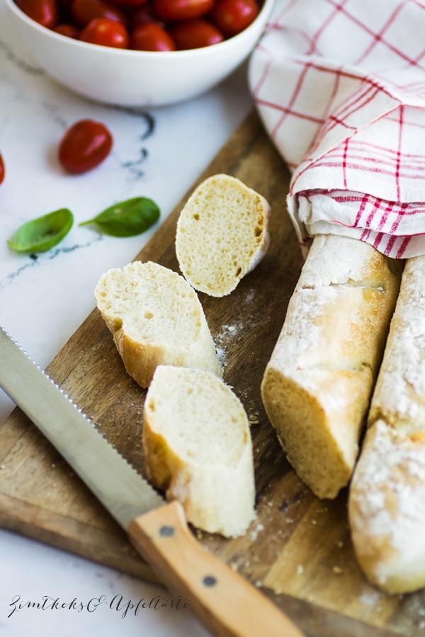 schnelles Rezept für knuspriges Baguette zum selber backen