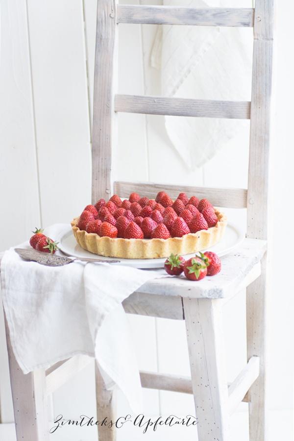 Weiße Schokoladentarte mit Erdbeeren - einfach lecker