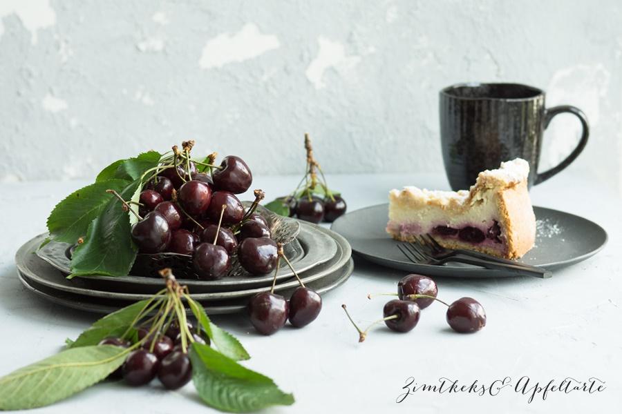 Einfaches Rezept Fur Kase Kirsch Kuchen Mit Butterstreuseln