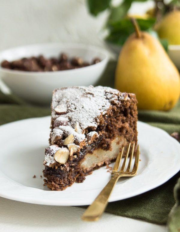 Glutenfreier Birnen Schokoladenkuchen Einfach Und Lecker